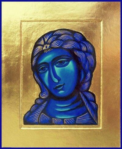 Ikona modrého serafa - anděla plného lásky nejlbíže Kristovu trůnu